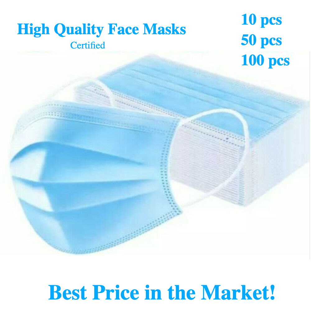 CE FDA Approved - Express Delivery 3 ply Disposable Face Mask