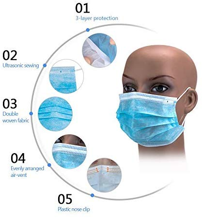 Wholesales Factory Supply Quick Shipping CE FDA Certified 3 Plys Protective Medical Face Masks