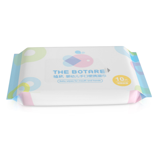 Portable 10pcs Wet Wipes for Infants And Toddlers