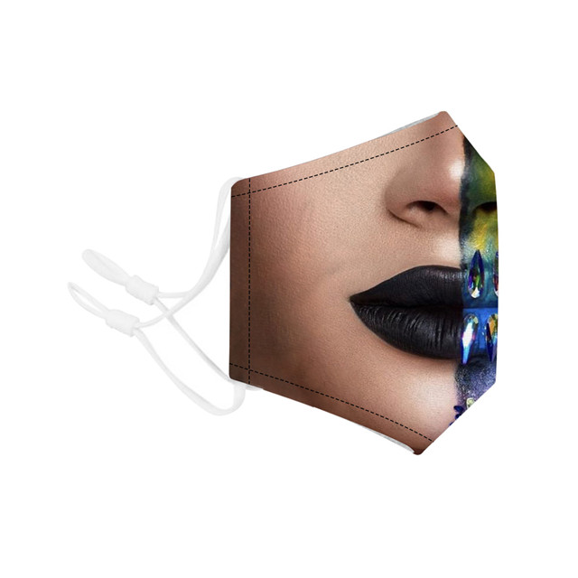 Disposable protective 3D cloth anti pollution virus dust fashion mask with filter