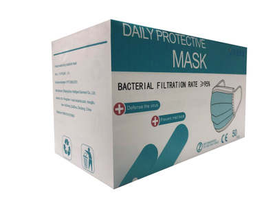 CE FDA Approved - 3 Ply Disposable Outdoor Face Mask Golden China Supplier Factory Price