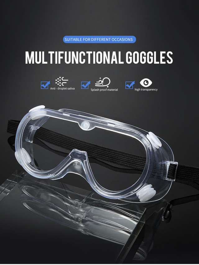 Fashion Transparent Virus Eye Protective Goggles Safety